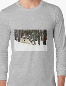 I am watching you - Timber Wolf Long Sleeve T-Shirt