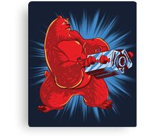Screencheat Bear Canvas Print