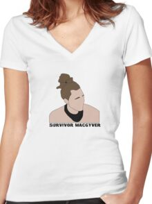 Survivor MacGyver Women's Fitted V-Neck T-Shirt