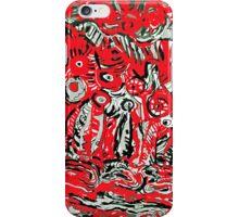 Earth Strata in Red & Black iPhone Case/Skin