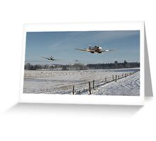 Spitfire - Hedge Hopping Greeting Card