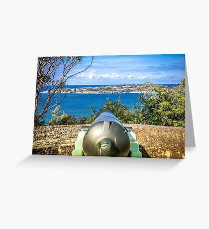 Canon at Gunners Barracks Sydney Greeting Card