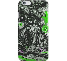 Strata in Black & Green iPhone Case/Skin
