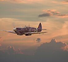 Spitfire - Evening Return by Pat Speirs