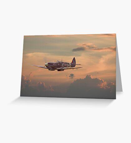 Spitfire - Evening Return Greeting Card