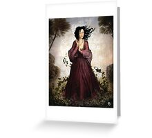 Lady in the Forest Greeting Card