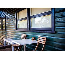 Sitting in a Cafe in Sydney national park. Photographic Print