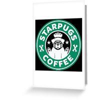 Starpugs Coffee Greeting Card