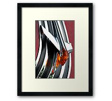 The Bond Between Man And Machine. Framed Print