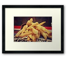 For those who love fries  Framed Print