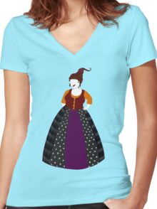 Hocus Pocus - Mary Sanderson Women's Fitted V-Neck T-Shirt