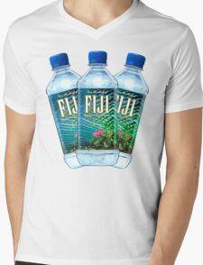 Fiji Water Bottles Mens V-Neck T-Shirt
