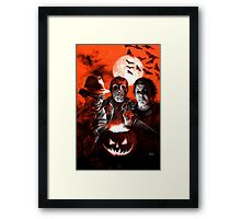 Super Villains Halloween Framed Print