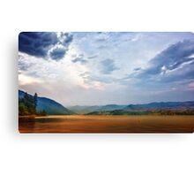 Lake Chelan Smoke Covered Canvas Print