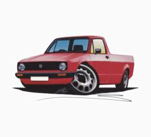 VW Caddy Red by Richard Yeomans