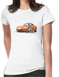 Mazda MX5 (Mk2) Gold Womens Fitted T-Shirt