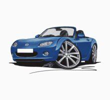 Mazda MX5 (Mk3) Blue Kids Tee