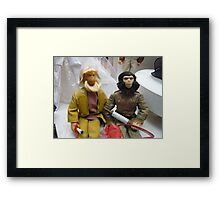Monkeys vs Barbie Framed Print