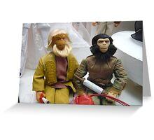Monkeys vs Barbie Greeting Card