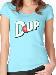 """Vict """"D-up Basketball""""  Women's Fitted Scoop T-Shirt"""