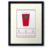 Starbucks Christmas Cup T-Shirt Framed Print