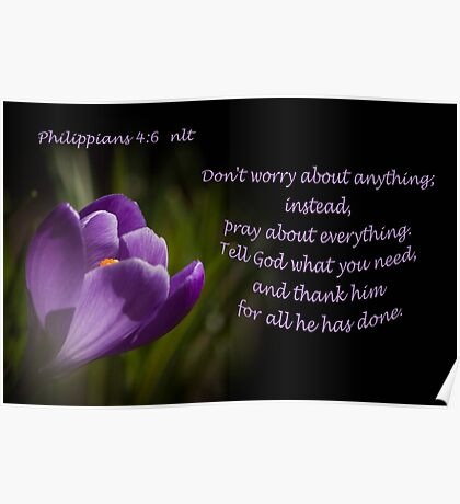 Phillipians 4:16 Poster