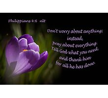 Phillipians 4:16 Photographic Print