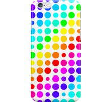 Circle Rainbow (White) iPhone Case/Skin