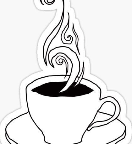 coffee scribble Sticker