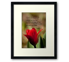 Psalm 34:1-3 Framed Print