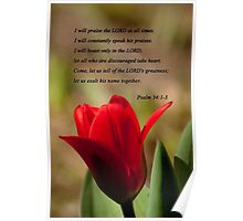 Psalm 34:1-3 Poster