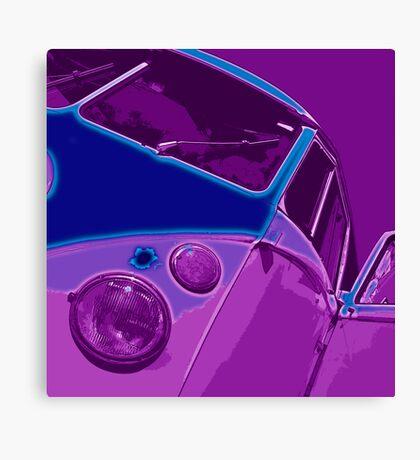 Split Glow Purple Canvas Print