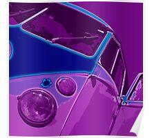Split Glow Purple Poster