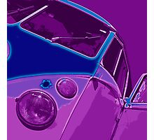 Split Glow Purple Photographic Print