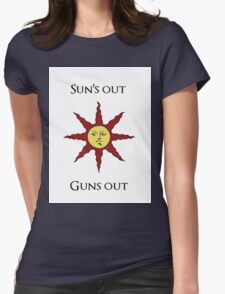 Sun's Out: Guns Out \o/ Womens Fitted T-Shirt