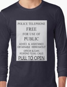 Police Telephone Box Long Sleeve T-Shirt