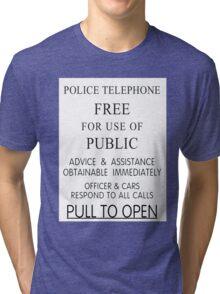 Police Telephone Box Tri-blend T-Shirt