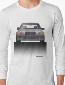 Modern Euro Icons Series Mercedes Benz W124 500E E-Class (Split) Long Sleeve T-Shirt