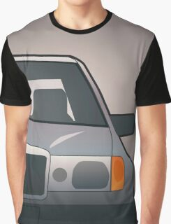 Modern Euro Icons Series Mercedes Benz W124 500E E-Class (Split) Graphic T-Shirt