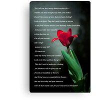 Matthew 6:25-30 Canvas Print