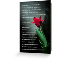 Matthew 6:25-30 Greeting Card