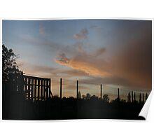 skylines after dark! Poster
