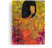 The Wise Lady Who Lives Next Door Canvas Print