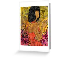 The Wise Lady Who Lives Next Door Greeting Card