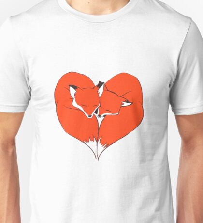 Foxes Mate for Life Unisex T-Shirt