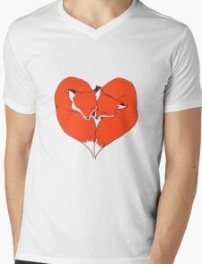 Foxes Mate for Life Mens V-Neck T-Shirt