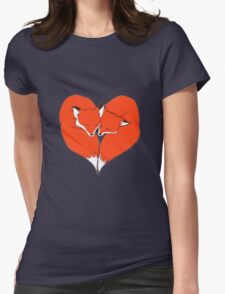 Foxes Mate for Life Womens Fitted T-Shirt