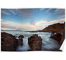 Rocks Early Morning, Dodges Ferry, Tasmania Poster