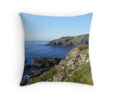 Cornish coast Throw Pillow