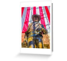 John Wayne Statue Greeting Card